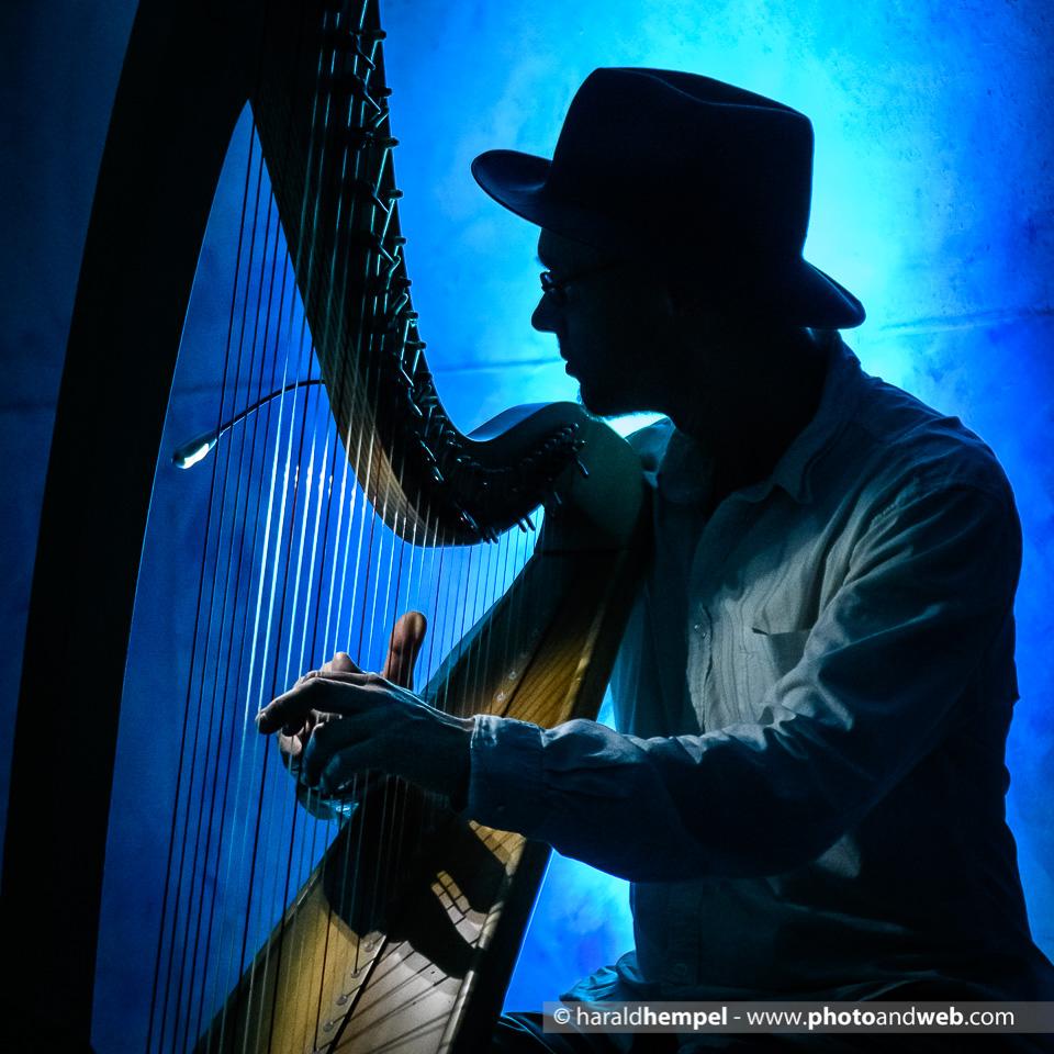 Kornblum-Familie, Ronald Blum an der Harfe