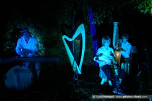Gartenkonzert der Kornblum-Familie